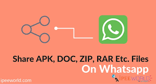 watsapp apk file how to apk zip doc etc files on whatsapp