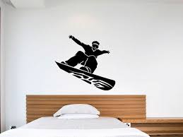 Vinyl Wall Decals Amazon Com Snowboard Vinyl Wall Art Decal Sticker For Kids Rooms