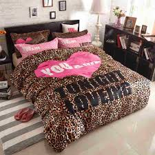 Leopard Bed Set Leopard Comforter Set King Size Bedding Cool Print In On 8 Best 25
