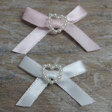 satin ribbon bows satin ribbon bows with heart 30mm baby small pink blue lemon