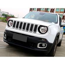 jeep grill logo angry matte black angry bird headlight bezels for jeep renegade 2015
