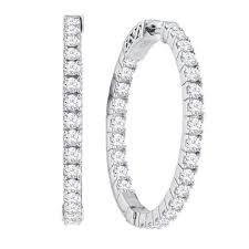 inside out diamond hoop earrings 14k inside out diamond hoop earrings 2 00ctw ll pavorsky