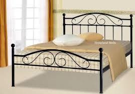 Single Beds Metal Frame Black Metal Sussex Bed Frame 4ft Small Beds