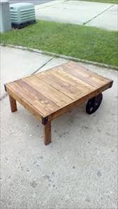upcycled wood pallet coffee table pallet furniture