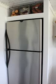 top of fridge storage diy refrigerator panels how to build a refrigerator cabinet above