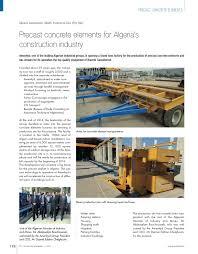 d agement bureau precast concrete elements for algeria s construction industry cpi
