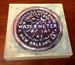 new orleans water meter nola watermeter painting rosie peri