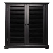 Home Depot Decorators Collection Home Decorators Collection Shutter 35 In W Worn Black 2 Door Shoe