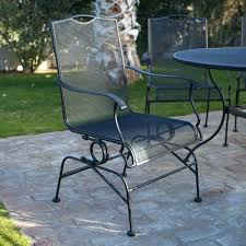Black Metal Patio Chairs Woodard Briarwood Barrel Chair Black Metal Patio Chairs Woodard