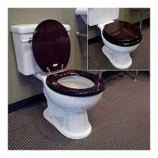 Luxury Toilet Seat Walnut Bathroom