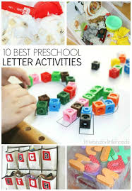 letter activities for early learning preschool literacy