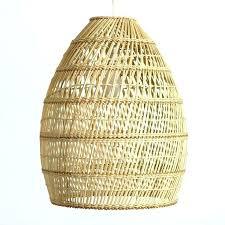 Woven Pendant Light New Woven Basket Pendant Light Basket Weave Pendant L Mid