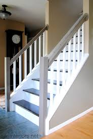 Staining Stair Banister Carpet To Wood Stairs Redo Stairs Staircase Makeover And Stair