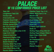 heated sneaks on palace winter 2016 price list dropping