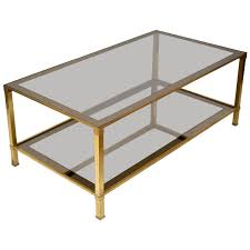 Glass Rectangle Coffee Table Brass Glass Rectangular Coffee Table Coffeetablesmartin