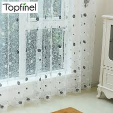 Embroidered Curtain Panels Aliexpress Com Buy Top Finel 2016 Bird Nest Sheer Curtain Panel