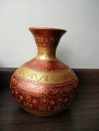 Clay Vase Painting Vase Fabuliv Boris Hand Painted Brown Terracotta Vase Online