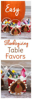 edible thanksgiving table favors to make with sweet t