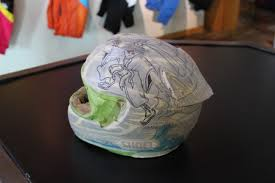 custom motocross helmet painting art u0027s cyclery blog troy lee designs showroom and factory tour