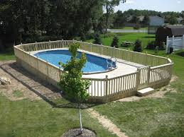 decks wood u0026 composite above ground pool decks in buffalo ny superior
