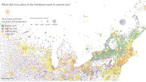 New England On Map Sapping Attention Population Density 2 Old And New New England
