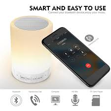 Led Bedside Lamp Amazon Com Elecstars Touch Bedside Lamp With Bluetooth Speaker