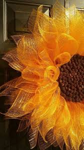 sunflower mesh wreath mesh sunflower wreath ideas sunflower wreaths
