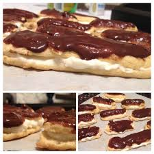 chocolate eclairs based off a wheat belly cookbook recipe
