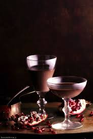 Wine Chocolate Chocolate Panna Cotta With A Port Wine Pomegranate Sauce