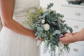 wedding flowers eucalyptus eucalyptus and succulent wedding bouquet image 410121 polka
