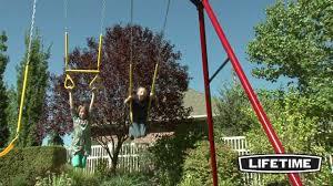 How To Build A Backyard Swing Lifetime Heavy Duty A Frame Swing Set Youtube