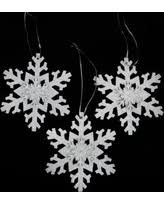 don t miss this bargain glitter snowflake ornaments set of 16