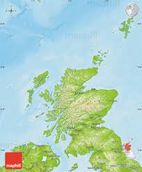 Physical Maps Physical Map Of Scotland