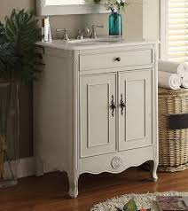 Cottage Bathroom Vanity Cabinets by 26 Inch Adelina Cottage Bathroom Vanity Crystal White Marble Top