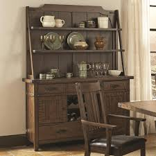buy padima rustic rough sawn buffet and hutch with metal bracket