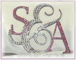 monogram cake toppers wedding cake topper cake topper personalized initials