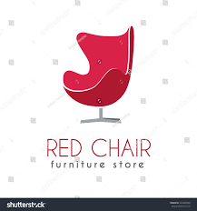 red chair business sign vector template stock vector 324226550