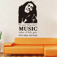 feeling stickers promotion shop for promotional feeling stickers bob marley sketch music feel no pain quotes wall stickers for bedroom kitchen vinyl decoration poster decal home decor mural