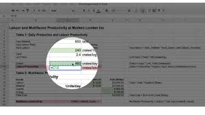 Practice Spreadsheets Productivity Calculations Using Google Sheets Basic Spreadsheet