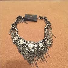 rhinestone statement necklace images Bebe jewelry fringe rhinestone statement necklace poshmark jpg