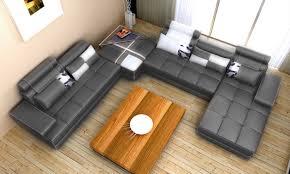 grey fabric modern living room sectional sofa w wooden legs phantom contemporary grey leather sectional sofa w ottoman