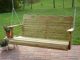 amish small heart porch swing