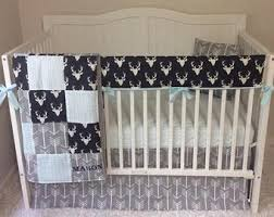 Blue And Gray Bedding Baby Boy Bedding Etsy