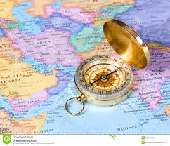 A Map Of Asia by Map Of Asia With A Compass Stock Images Image 19606844