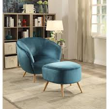 Teal Accent Chair Homepop Swoop Arm Velvet Accent Chair Natural K6499 B117 The