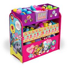 4 Tier Toy Organizer With Bins Delta Children Nick Jr Paw Patrol Skye And Everest Multi Bin Toy