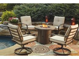 Outside Patio Furniture by Outdoor Furniture Outdoor Patio Fire Pit And Swivel Chairs