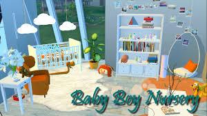 Baby Boy Nursery The Sims 4 Baby Boy Nursery Youtube