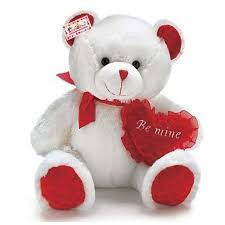 be mine teddy buy 15 inch white teddy holding be mine heart online