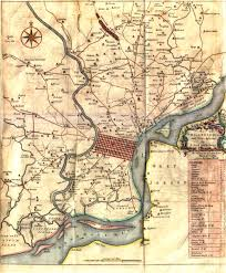 A Map Of Pennsylvania by Scull U0026 Heap Map 1753